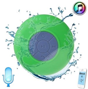 Green Waterproof Wireless Bluetooth Handsfree Mic Speaker Shower Car Mini IPhone Samsung Cell Phone
