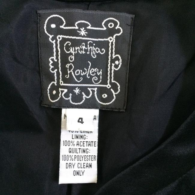 Cynthia Rowley Silk Quilted Shortsleeve Black Jacket