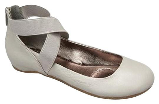 Kenneth Cole Unique Ballerina Leather Grey Flats