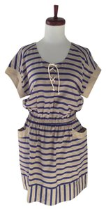 Sea New York short dress gray / blue Striped on Tradesy