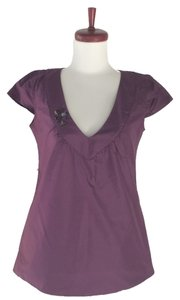Rory Beca Silk Top Plum