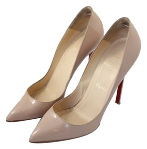 Christian Louboutin Pigalle Pointed Toe Penny Lane Nude Pumps