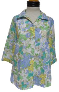 Alia Button Down Shirt Multi Color Floral