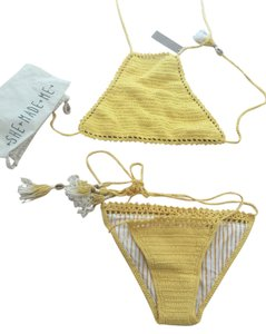 SHE MADE ME Crochet She Made Me Yellow Bikini