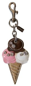 Coach COACH - Rare JEWELED LEATHER ICE CREAM CONE PURSE CHARM #93171