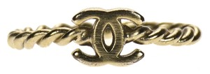 Chanel Chanel Twisted Brushed Gold Ring