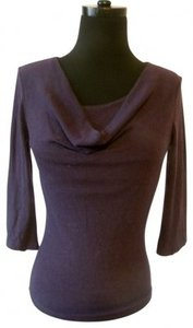 Byer California Draped Neck Fitted Sweater