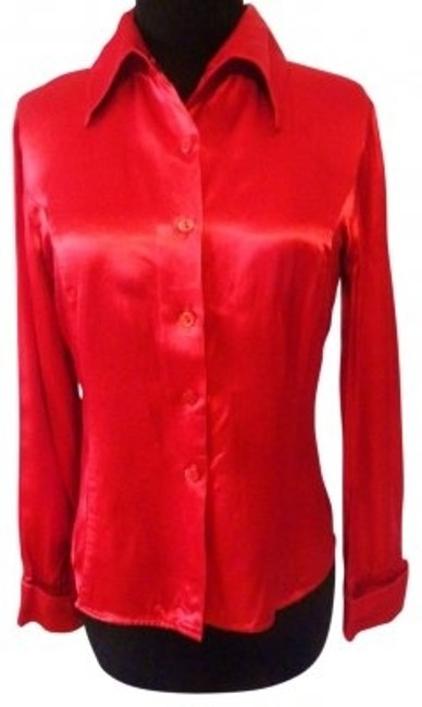 Younique Clothing Button Down Top red