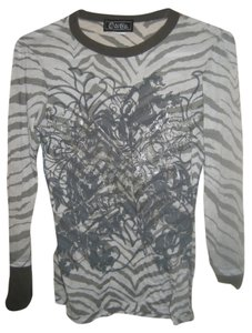 O&Co Machine Washable Longsleeve Top White and gray