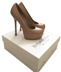 Saint Laurent Ysl Ysl Tribtoo Ysl Heels Woman Woman Heels Nude Pumps