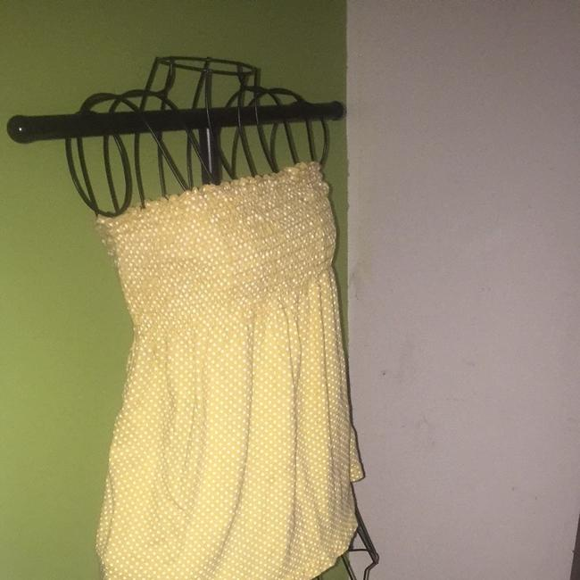 Body Central Yellow W/white Polka Dots Halter Top