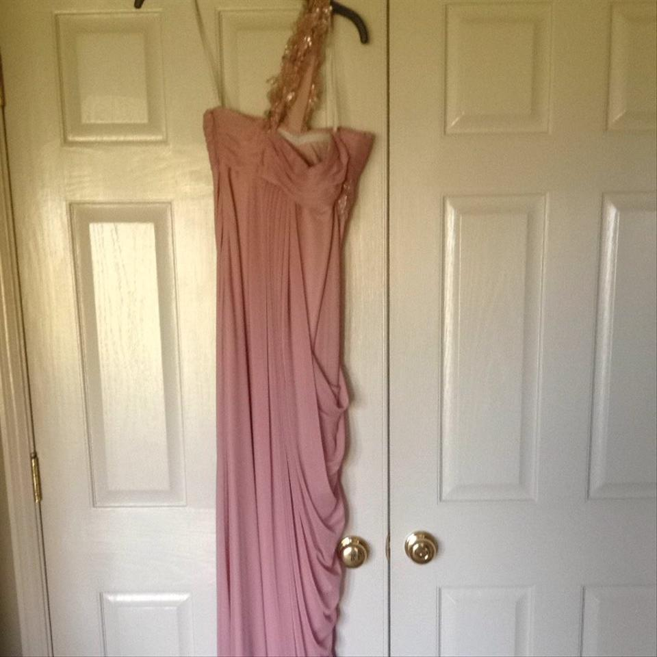 Xscape Pale Pink And Gold Formal Dress