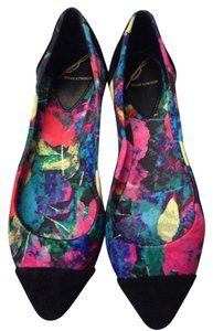 Brian Atwood Floral Flats