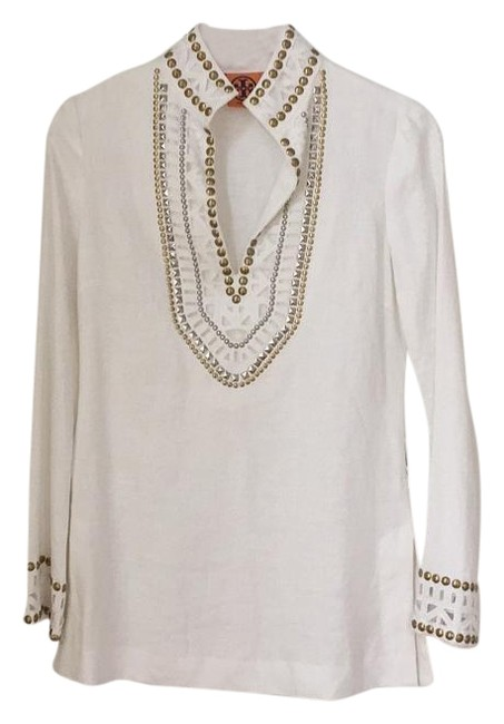 Preload https://item5.tradesy.com/images/tory-burch-tunic-white-3029629-0-2.jpg?width=400&height=650