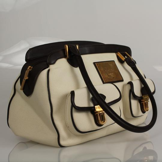 Chopard Ivory Fabric Leather Bronze Tote