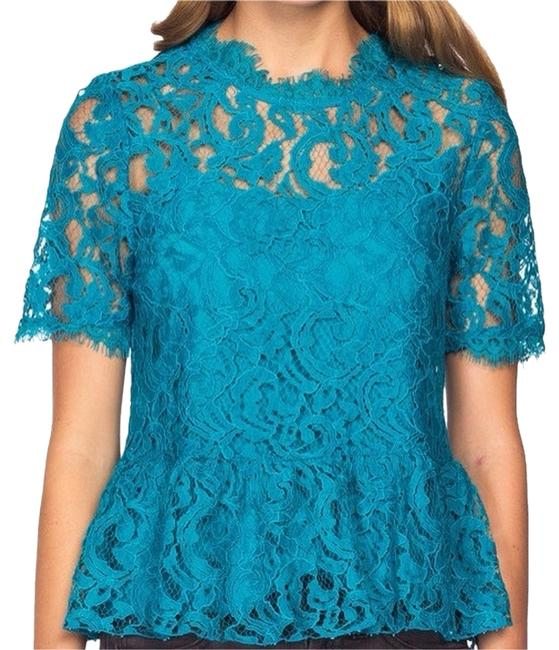 Preload https://item2.tradesy.com/images/dolce-vita-teal-damica-peplum-lace-blouse-size-0-xs-3030451-0-0.jpg?width=400&height=650