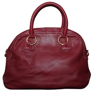 Talbots Pebbled Leather Satchel in Red