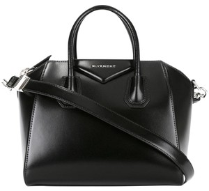 Givenchy Small Antigona Leather Satchel in Black