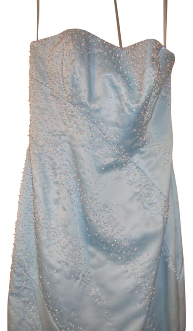 Morgan & Co Blue Prom Pearl Dress
