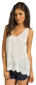 Joie Silk Silk Eyelet White Top Porcelain