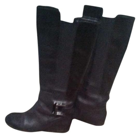 Enzo Angiolini black with gunmetal buckle Boots