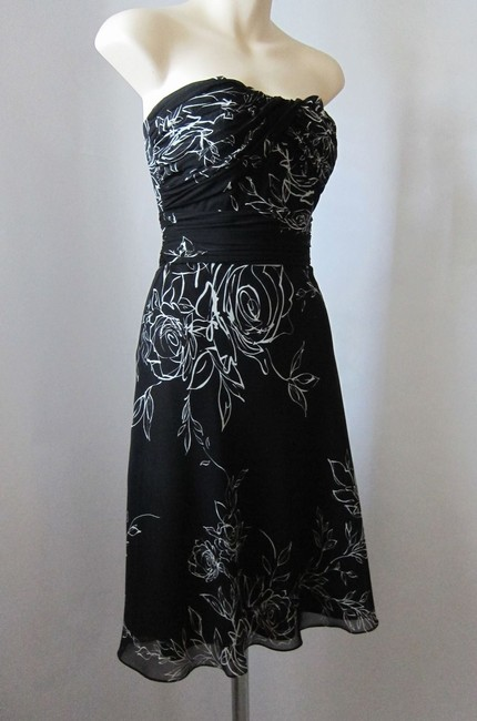 White House | Black Market Corset Floral Flowers Ruched Sweetheart Dress
