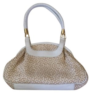 Kate Landry Satchel in White and tan