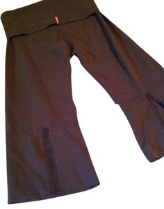 Hard Tail Yoga Pants Capris Brown
