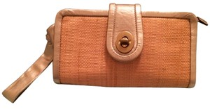 Coach Wristlet in Straw and Gold