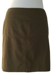 Cynthia Rowley Green Mini Mini Skirt olive