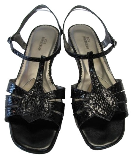 Ros Hommerson Reptile Design Great Condition Size 10 Wide Width BLACK Sandals