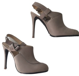 Thakoon Leather Booties Slingbacks Heels gray Mules
