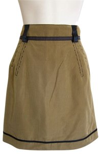 Zac Posen Pencil Stripe Pinstripe Skirt black, tan