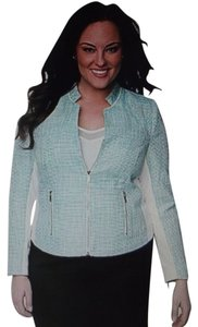 Lane Bryant Aqua Green/White Jacket