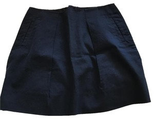 J.Crew A-line Pockets Preppy Fall Comfortable Skirt Navy