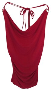 Arden B. Backless Red Halter Top