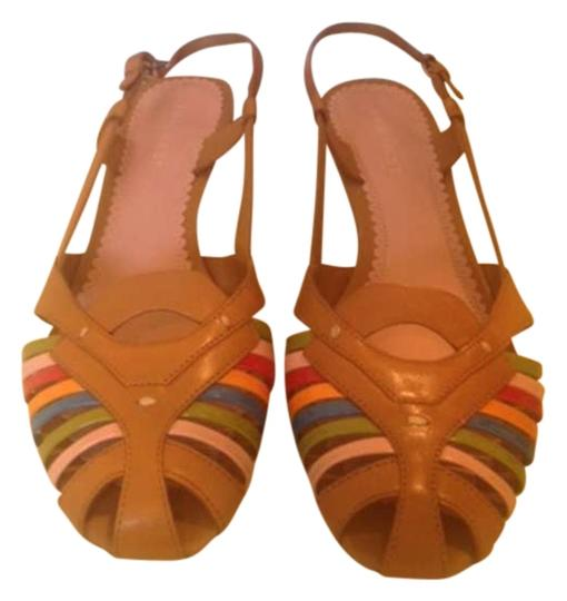 Nine West Tan and mutli color Sandals