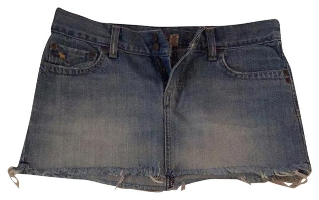 Abercrombie & Fitch Denim Denim Micro-mini Skirt