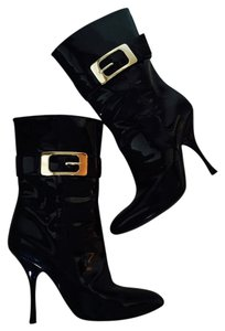 Gucci Patent Sexy Metal Designer Black size 8 Boots