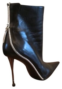 Gianmarco Lorenzi Italian black with silver hardware Boots