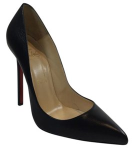 Christian Louboutin Leather Pigalle Black Pumps