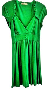 Foreign Exchange short dress green Sweetheart Ruffle on Tradesy