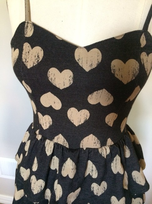 Charlotte Russe short dress Cream hearts on Tradesy
