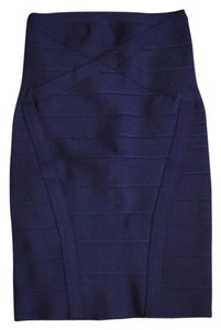 Hervé Leger Skirt Pacific Blue