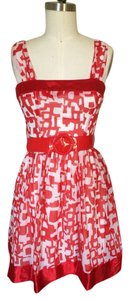 Tempted Hearts short dress Red & White on Tradesy