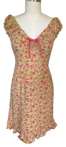 DBY Ltd. short dress Green/ Coral floral Print on Tradesy