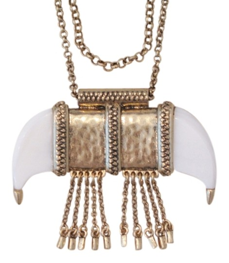 Lucky Brand 65% OFF! BRAND NEW Lucky Brand Gold-Tone White Tusk Pendant Necklace