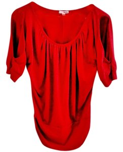 Bongo Slit Sleeves Top poppy-red