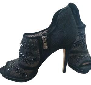 BCBGMAXAZRIA Bootie Lace Beaded Black Boots