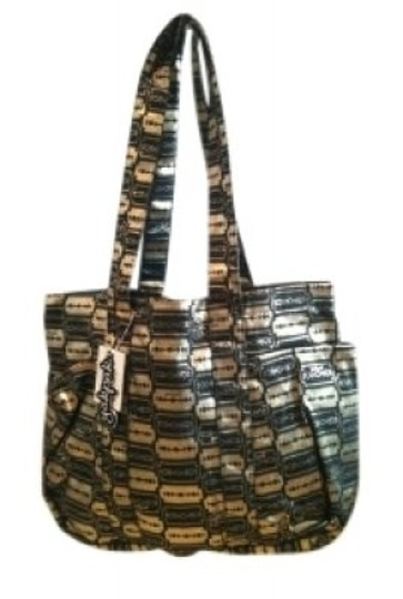 Preload https://img-static.tradesy.com/item/30345/yak-pak-mettalic-arco-black-and-gold-cotton-tote-0-0-540-540.jpg